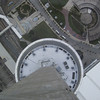 Looking straight down from the SkyPod. The larger main pod is on the tower below.