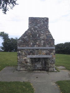 Hearth dedicated to the women and children of the American frontier.  It may look old, but it was built in 1976 as a memorial.