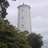 Presqu'ile Point Lighthouse.  Although the traditional lantern room has been replaced with a modern light, this still functions as a navigational aid.