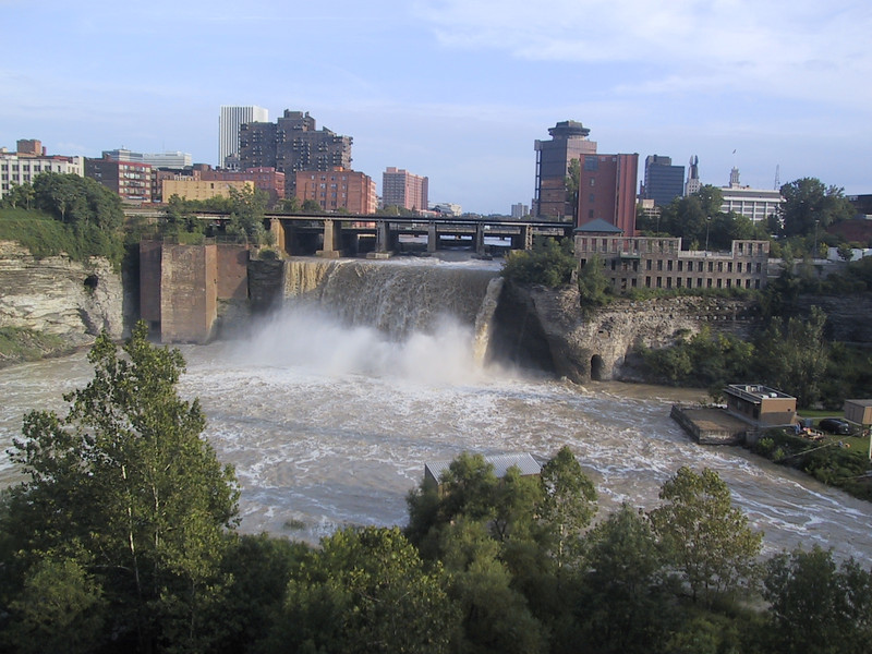 Upper Falls on the Genesee River in Rochester, NY