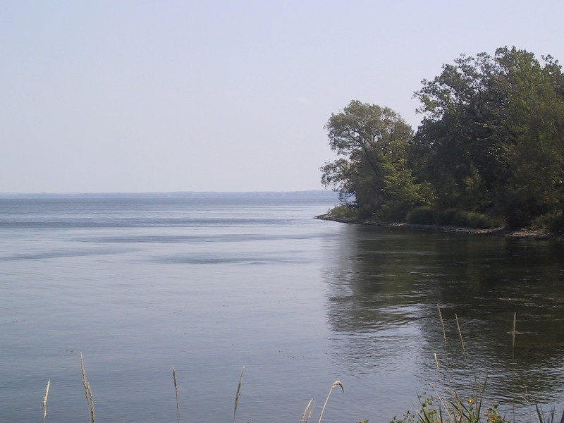 """Looking out over the Bay of Quinte - part of Lake Ontario - from the <a href=""""http://www.fom.quinteconservation.ca/"""">Massasauga Point Conservation Area</a>"""