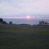 Sunset from Sackets Harbor Battlefield.