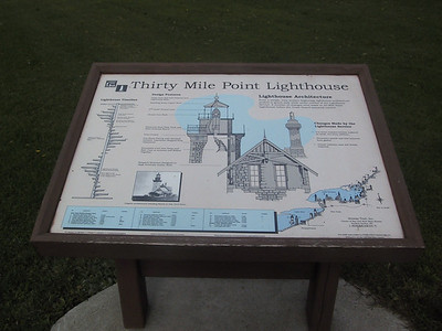 Sign about Thirty Mile Point Lighthouse