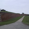 Looking along one of the outer walls at Fort Niagara