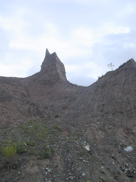 Example of the spires created by erosion at Chimney Bluffs State Park