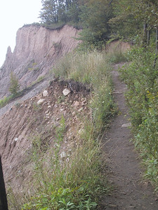 Remeber that sign about staying away from the edge of the bluff?  Yeah.