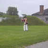 Firing demonstration at Fort George.