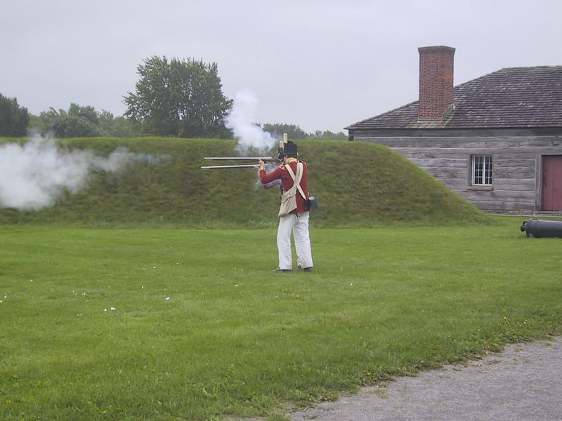 Firing demonstration at Fort George.