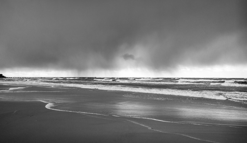 Stormy day on the shore