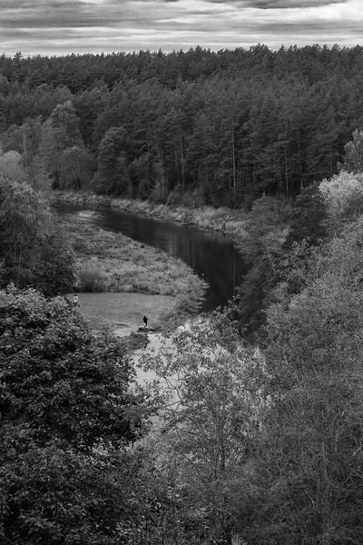 River in B&W