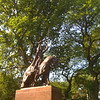 My favorite tree - hard to capture in a photo, but the very gnarly one just to the right of the statue pedestal.