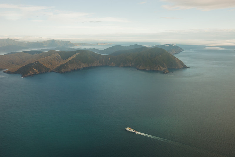 Taken on a Sounds Air flight on the way to Picton. The Interislander is approaching Tory Channel