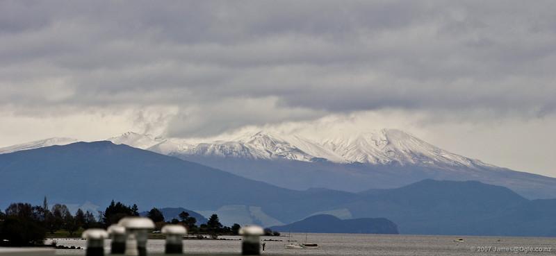 Mt Ruapehu across Lake Taupo