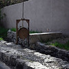 Acequia and gate in Santa Fe