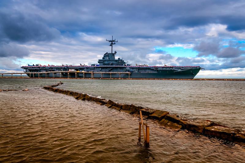 The USS Lexington, a World War II veteran, now a museum ship in Corpus Christi