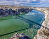 Shadows of the Pecos River Bridge