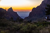 Watching the sun set through the Window in the Chisos Mountains