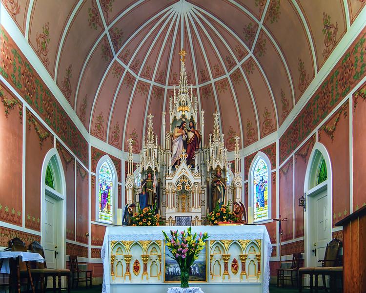 Closeup of the Altar of St. John the Baptist Catholic Church