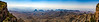 Panoramic view to the south from the South Rim of the Chisos Mountains in Big Bend National Park