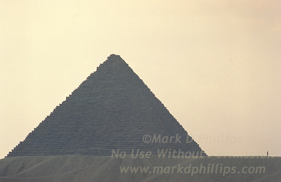 The Great Pyramid of Giza outside Cairo, Egypt.