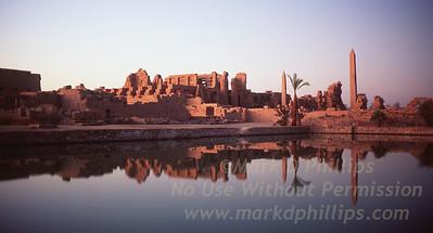 Temple of Karnak in Luxor, Egypt; Great Temple of Amon Ra, The Temple of Khonso, The Ipt Temple, The Temple of Ptah, the Temple of Montho and the Temple of the God Osiris