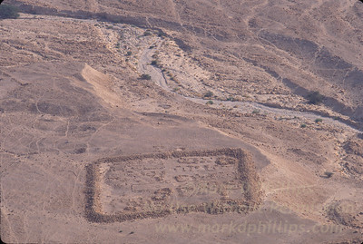 Roman fortifications looking down on from atop Masada