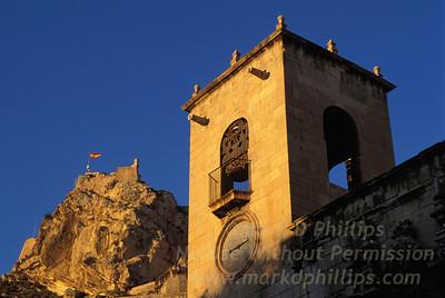 Castle of Santa Bárbara atop on Mount Benacantil above Alicante, Spain.