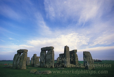 Stonehenge under a beautiful sky on the Salisbury Plain in England