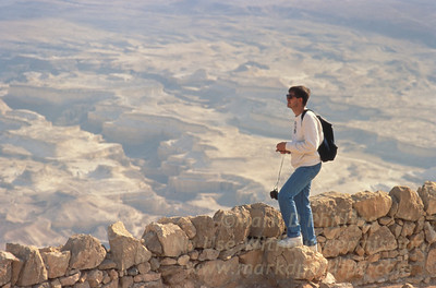 Looking out from Masada, Israel