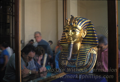 Gold Mask of Tutankahmen at the Cairo Museum in Egypt.
