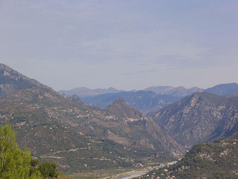View from Carros towards the Italian border Sep2003