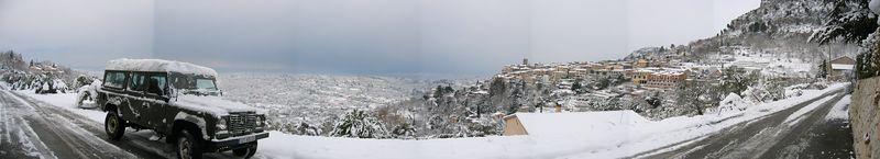 St Jeannet snow panorama 28/02/05