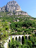 Baou of St Jeannet with old Chemin de Fer Provence bridge in foreground (disused)...
