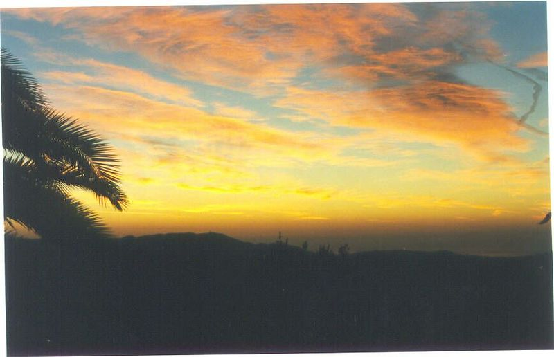 Sunrise from the terrace, January 2002