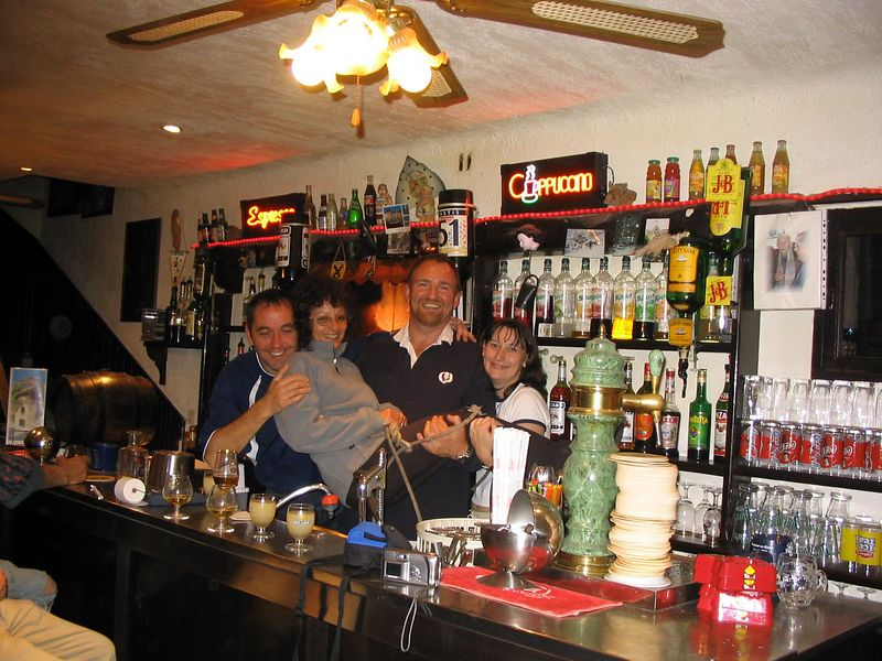 Bar staff with Graziella Sep2003