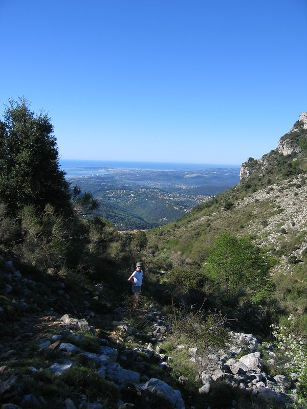 Jules on the path up the La Gaude