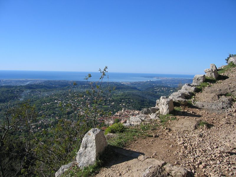 The path up from St Jeannet