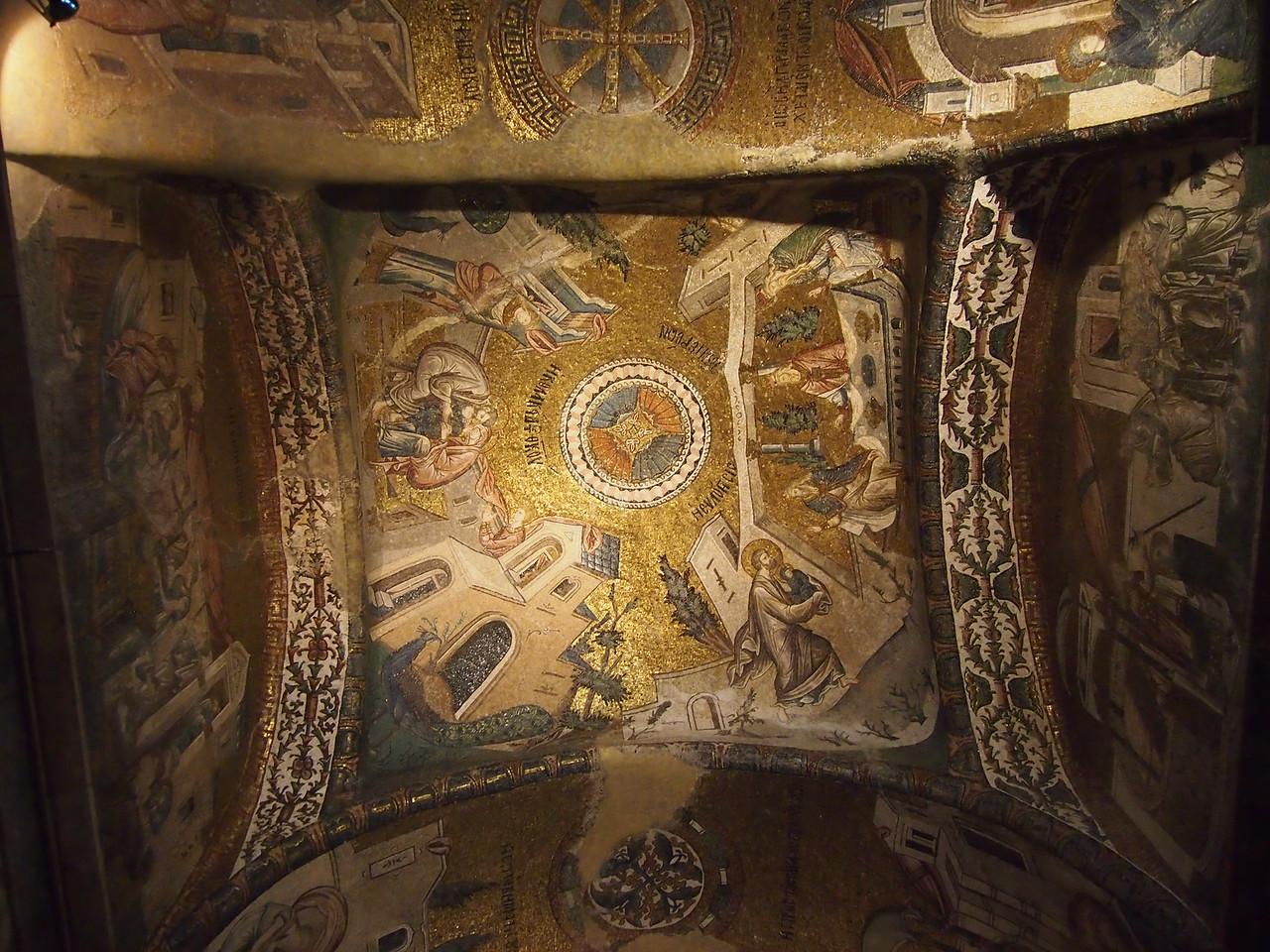 Mosaics and frescoes at the Chora Church/Kariye Museum