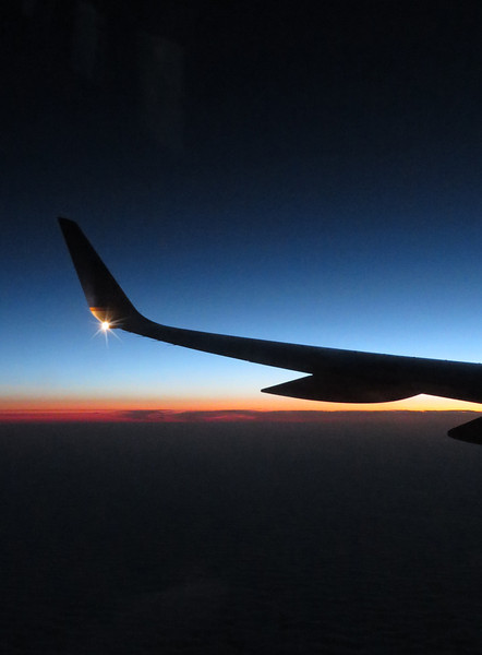 Sunrise from39,000 feet.