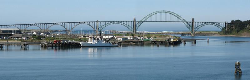 The Wecoma docked at Hatfield Marine Sciences Center, Yaquina Bay, Newport, OR