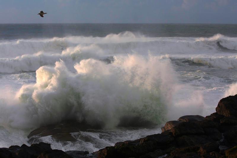 Stormy weather near Depot Bay, Oregon