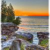Sunrise at Cave Point County Park in Door County Wisconsin