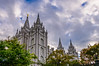 Mormon Temple and Clouds