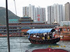 My fellow tour companions and I - just eight of us in total - take a ride on a Sanpan boat
