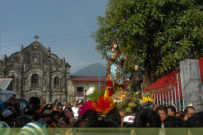 Catholic procession during the Rice Festival at Lucban, Philippines.