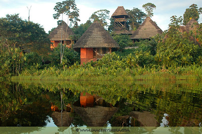 A beautiful resort at the Amazon Rainforest of Ecuador.