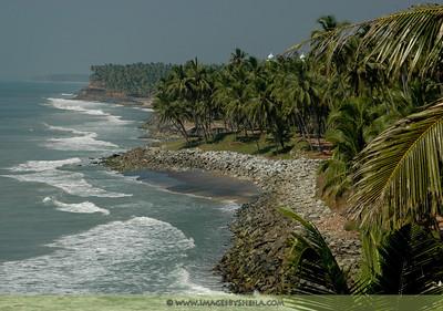 Beautiful beach of Kerala, India