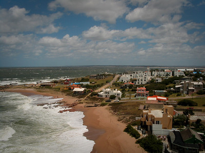 View from the lighthouse at Jose Ignacio.