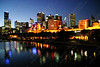 "2010-The Yarra River and the Melbourne skyline at dusk in Australia <a href=""http://www.cwcphotography.com/gallery/1199387"">(8x12)</a>"