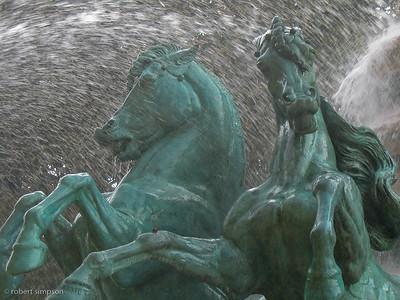 Fontaine de l'Observatoire (the horse fountain) next to the Jardin Marco Polo, Paris.